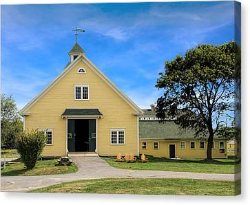Canvas Print featuring the photograph Wells Reserve Barn by Jemmy Archer