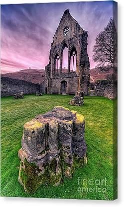 Welsh Abbey  Canvas Print by Adrian Evans
