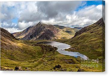 Hdr Landscape Canvas Print - Welsh Mountains by Adrian Evans