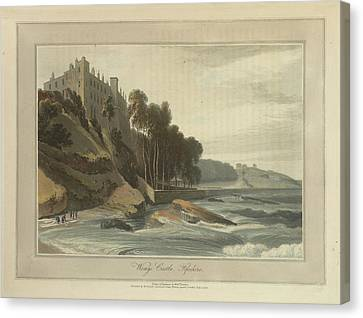 Wemys Castle In Fifeshire Canvas Print by British Library