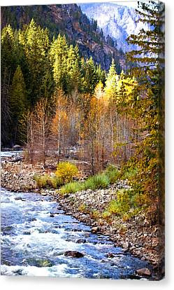 Wenatchee River - Leavenworth - Washington Canvas Print