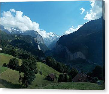 Wengen View Of The Alps Canvas Print