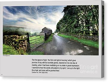 Wensleydale Road Canvas Print by Mike Hoyle