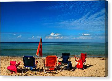 Panama City Beach Canvas Print - We're Coming Back by Laura Ragland