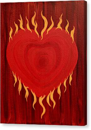 Were Not Our Hearts Burning Within Us Canvas Print by Michele Myers