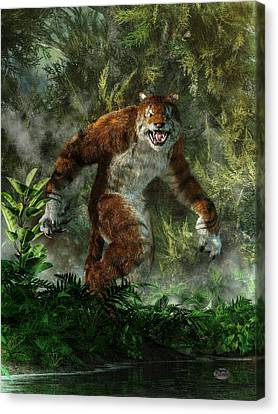 Tiger Canvas Print - Weretiger by Daniel Eskridge