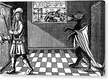 Werewolf Of Ansbach, 1685 Canvas Print by Photo Researchers