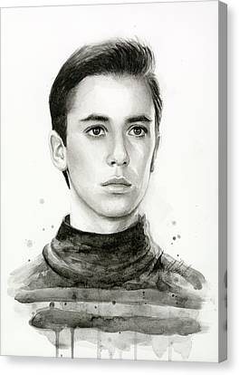 Wesley Crusher Star Trek Fan Art Canvas Print by Olga Shvartsur