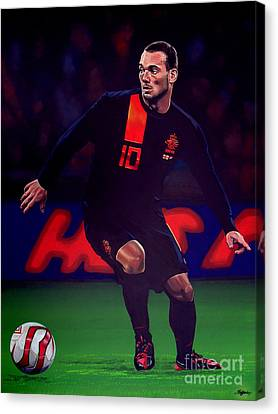 Wesley Sneijder  Canvas Print by Paul Meijering