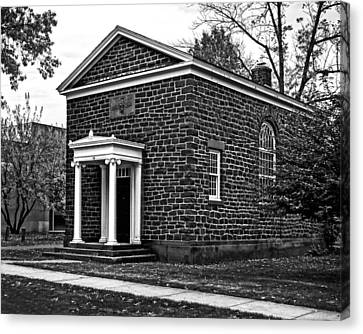 Wesleyan University Skull And Serpent Building  Canvas Print