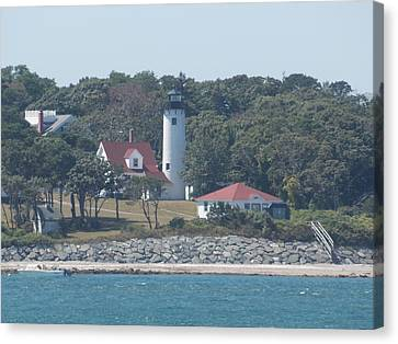West Chop Lighthouse Canvas Print by Catherine Gagne