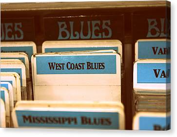West Coast Blues Canvas Print by Sarah Bergan