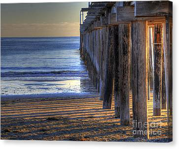 West Coast Cayucos Pier Canvas Print