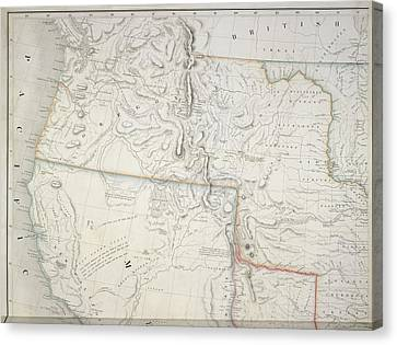 West Coast Of America Canvas Print by British Library
