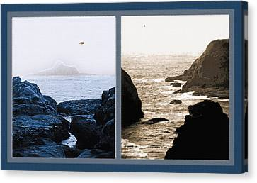 West Coast Scenes Diptych 2 Canvas Print by Steve Ohlsen