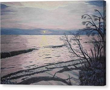 West Coast Sunset Canvas Print by Hilda and Jose Garrancho