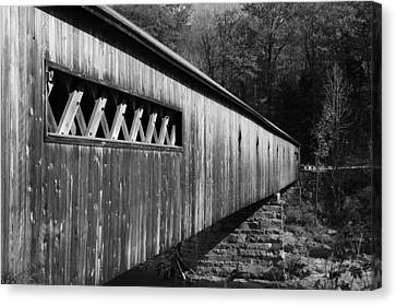 West Dummerston Covered Bridge Canvas Print by Luke Moore