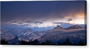 Canvas Print featuring the photograph West Elk Mountains First Light by Eric Rundle