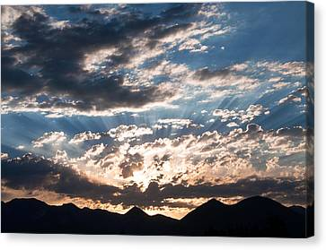 West Elk Mountains Morning Canvas Print by Eric Rundle