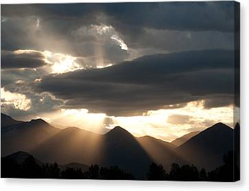 Canvas Print featuring the photograph West Elk Sunbeams by Eric Rundle