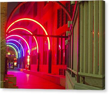 West End Archway In Dallas Canvas Print by ARTography by Pamela Smale Williams
