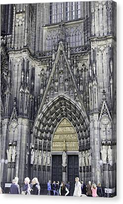 West Entrance Door Cologne Cathedral Canvas Print by Teresa Mucha