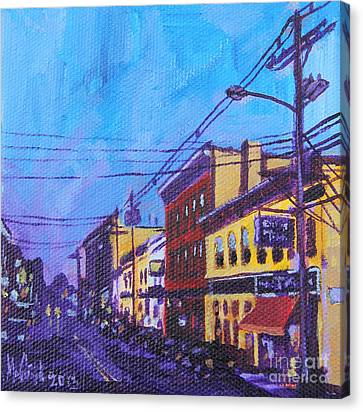 West Front Street Canvas Print by Michael Ciccotello