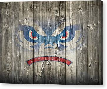 Wolves Canvas Print - West Georgia Wolves Barn Door by Dan Sproul