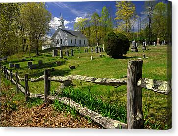 Canvas Print featuring the photograph West Guilford Church by Paul Miller
