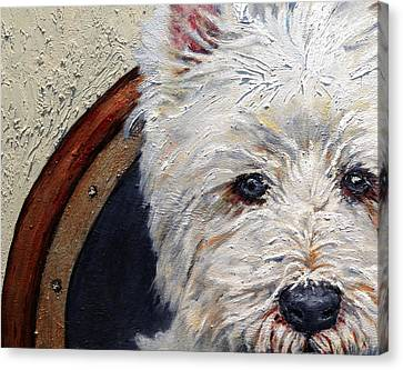 West Highland Terrier Dog Portrait Canvas Print by Enzie Shahmiri