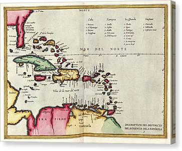 1622 Canvas Print - West Indies by Library Of Congress, Geography And Map Division
