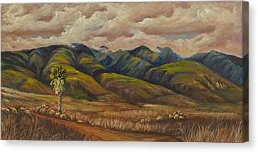 Canvas Print featuring the painting West Maui Splender  by Darice Machel McGuire