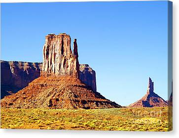 West Mitten - Monument Valley Canvas Print by Douglas Taylor