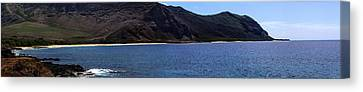 Canvas Print featuring the photograph West Oahu Panorama by Rob Tullis