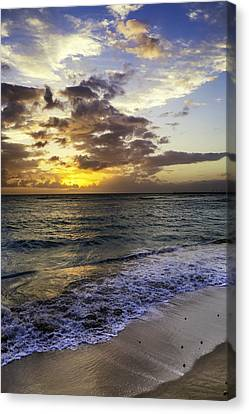 Canvas Print featuring the photograph West Oahu Sunset by Rob Tullis