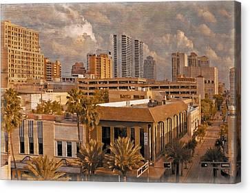West Palm Beach Florida Canvas Print by Debra and Dave Vanderlaan