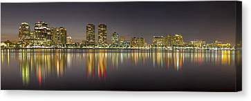 West Palm Beach Skyline Canvas Print by Debra and Dave Vanderlaan