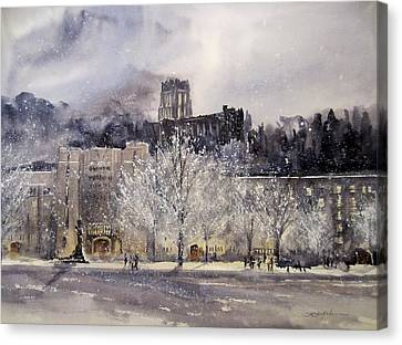 Winter In The Country Canvas Print - West Point Winter by Sandra Strohschein