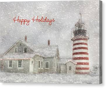 West Quoddy Christmas Canvas Print