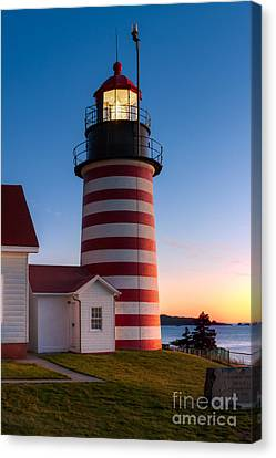 West Quoddy Head Light At Dawn I Canvas Print by Clarence Holmes