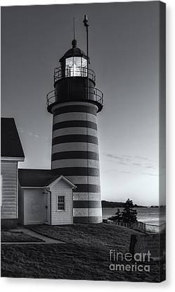 West Quoddy Head Light At Dawn II Canvas Print by Clarence Holmes