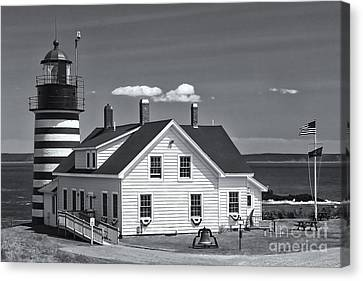 West Quoddy Head Light II Canvas Print by Clarence Holmes