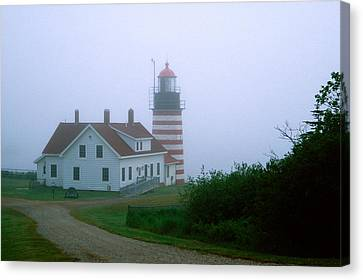 West Quoddy Lighthouse Canvas Print by Amanda Kiplinger