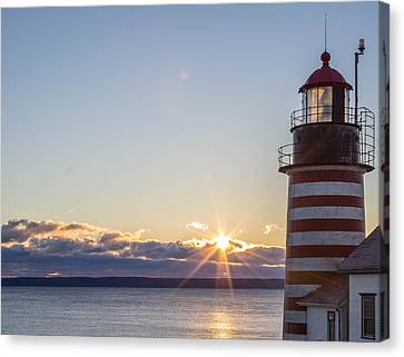West Quoddy Lighthouse Sunrise Canvas Print by Trace Kittrell