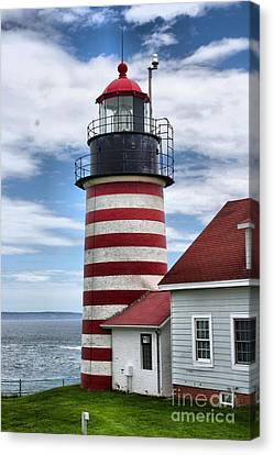 Nubble Lighthouse Canvas Print - West Quoddy Lighthouse_4226 by Joseph Marquis
