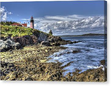 Canvas Print featuring the photograph West Quoddy Lubec Maine Lighthouse by Shawn Everhart