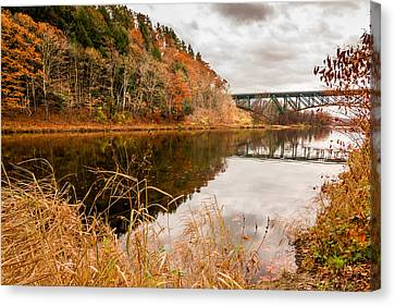West River At Interstate 91 Canvas Print