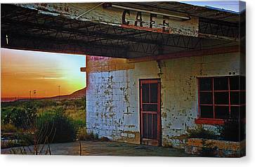 West Texas Cafe Canvas Print by Brian Kerls