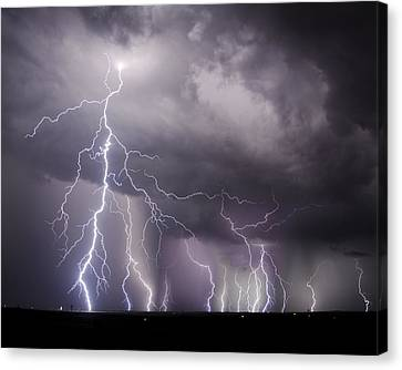 West Texas Light Show Canvas Print