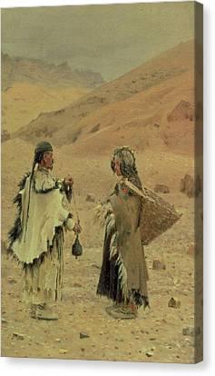 West Tibetans, 1875 Oil On Canvas Canvas Print by Piotr Petrovitch Weretshchagin